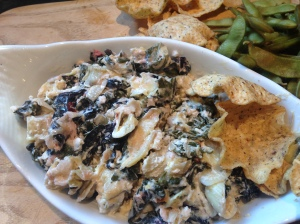 Baked Artichoke Dip with Chard and Kale